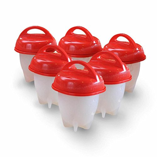 Feishe 2018 New Easy Egg Cooker Hard Boiled Eggs Without The Shell 6 Egg Cups