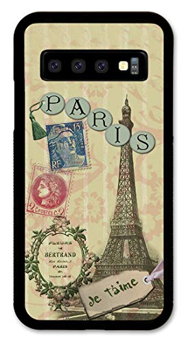 Samsung S10+ Case Slim Fit - Hard Shell Plastic - Full Protective Cover for Samsung Galaxy S10+ (Plus) - Paris Je T'Aime
