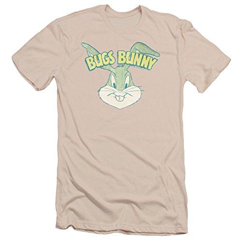 Bugs Bunny Head Slim Fit T-shirt, Cream, XL