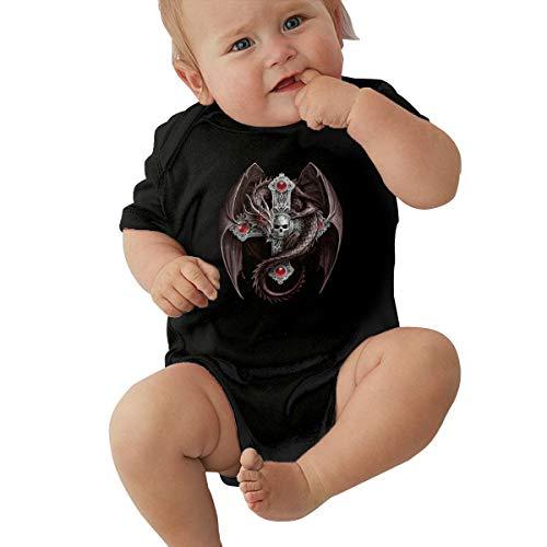 Red Skull Dragon Celtic Cross Baby Onesie Organic Short-Sleeve Bodysuit