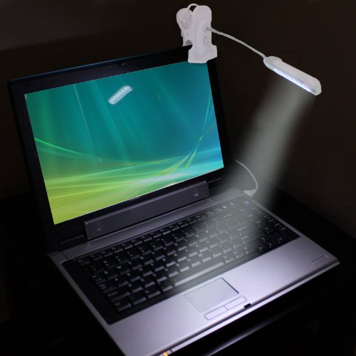 Flex-Neck Clip-On LED Laptop Lamp Light by ENHANCE - Works With Dell XPS 13 , Google Chromebook Pixel , HP Spectre x360 and More Laptop Computers by ENHANCE (Image #3)
