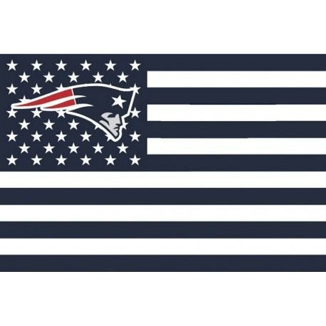 NFL New England Patriots Stars and Stripes Flag Banner   3x5 FT, White -