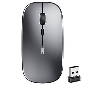 ワイヤレスマウス inphic 無線マウス サイレント充電式 持ち運び便利 ローズゴールド
