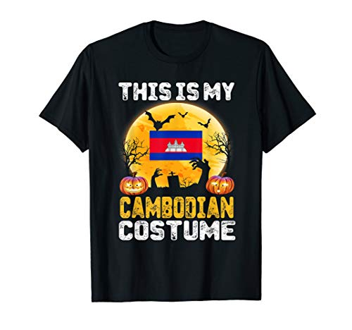 This Is My Cambodian Flag Costume Shirt