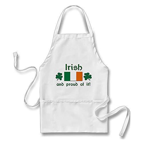 Smity 106 Funny Proud Irish Adults' Apron White, One Size Fits Most