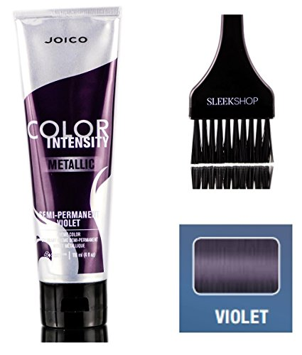 Joico Color Intensity METALLIC Semi-Permanent Creme Hair Color (with Sleek Tint Brush) (Violet)