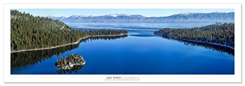 - Award Winning Landscape Panoramic Art Print Poster: Emerald Bay Lake Tahoe