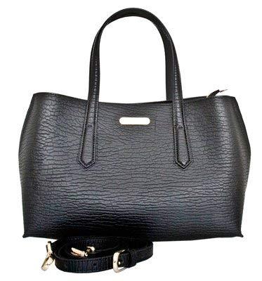 Leatherbay Patria Leatherbay Tote Bag//Black Travel Tote
