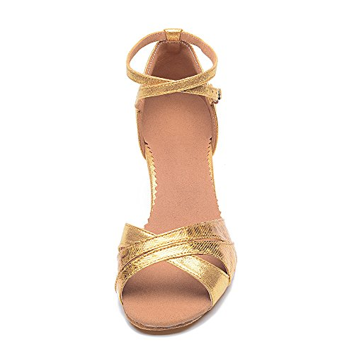 Dance Sole Sandals Gold Latin Latin Female Soft superpark With Ballroom Shoes Shoes Dance Womens wFExAFqY