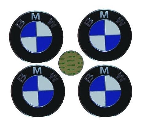 4 BMW OEM rueda tapacubos emblema adhesivo 70 mm: Amazon.es: Coche y moto