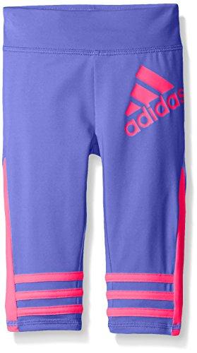 adidas Little Girls' Active Capri Tight Legging, Purple, 6X