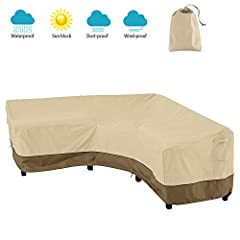 Stop worrying about your furniture getting dirty and old!       Features:       PREMIUM PATIO COVER Designed with upgrade 420D oxford material, which has excellent waterproof performance and good high-temperature resistance. Thicker th...