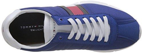 Tommy Hilfiger Herren Retro Lightweight Sneaker Blau (Monaco Blue 408)