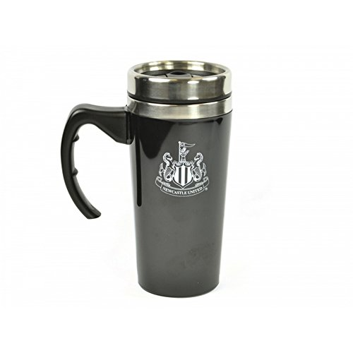 Newcastle United FC Official Soccer Travel Mug (One Size) (Black/Silver)
