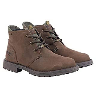 Barbour Mens Pennine Chukka Boot Leather Waterproof Comfort Smart Ankle Boots - Brown 10
