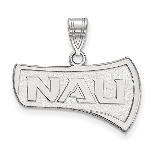 10k White Gold LogoArt Official Licensed Collegiate Northern Arizona University (NAU) Large Pendant by Logo Art