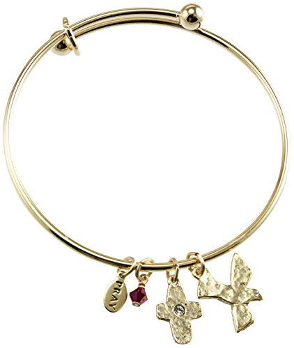 Cathedral Art PRB173 Communion Gold Bangle with Dove Charm