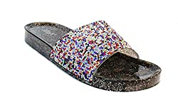 Jelly Glitter Summer Slide Multi Li Sandal