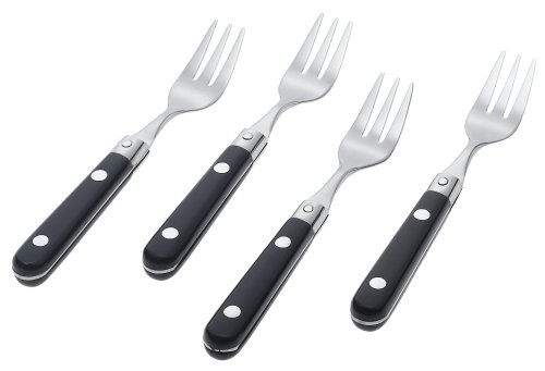 - Ginkgo International Le Prix Stainless Steel Cocktail Forks, Navy, Set of 4