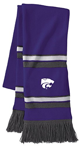 Ouray Sportswear NCAA Kansas State Wildcats Comeback Scarf, One Size, Purple/White/Graphite