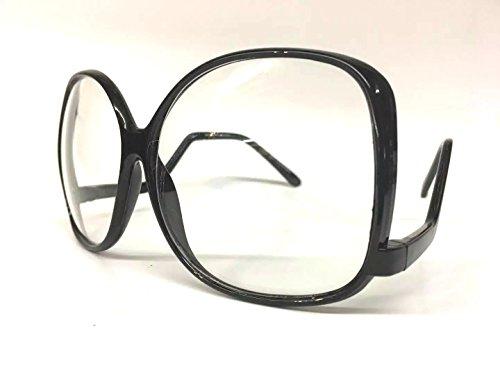 Oversized Vintage Glossy Jackie O Clear Lens Eye Sun GLASSES UPSIDE DOWN - Sunglasses Down Upside