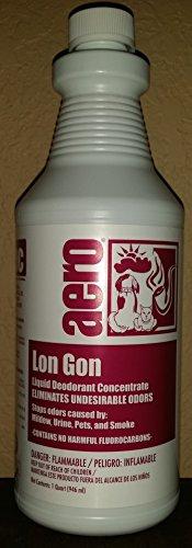 Aero Lon Gon Deodorant Concentrated Air Freshener - Case of 12 quarts by Aero