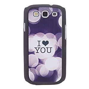 Kelaie I Love You Design Pattern Hard Case for Samsung Galaxy S3 I9300 +Screen Protector