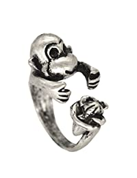 Open Adjustable Animal Rings for Unisex Gift Ancient Silver Broneze Ring Finger Ring Jewelry