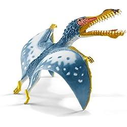 Schleich Réplica de Figura de Dinosaurio Anhanguera, color azul con blanco y amarillo