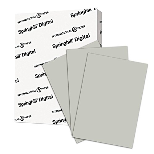 Springhill, Digital Vellum Bristol Cover Gray, 67lb, Letter, 8.5 x 11, 250 Sheets/1 Ream, (066000R) Made In The USA by Springhill