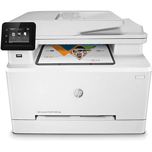 chollos oferta descuentos barato HP M281fdw Color Laserjet Pro Impresora Multifunción Láser WiFi fax copiar escanear imprimir en color 21ppm color Blanco