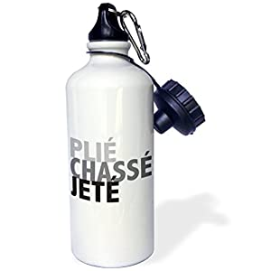 KIKE CALVO World of Dances and Ballet - Ballet Plié Chassé Jeté - 21 oz Sports Water Bottle (wb_219630_1)