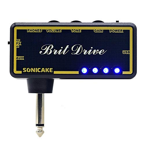 SONICAKE Amphonix Dutch Gain Modern Hi-gain USB Chargable Headphone Pocket Guitar Amp w/h Built-in Effects and AUX input
