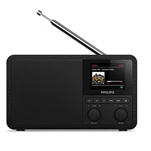 Philips Audio Internetradio DAB+ PR802/12 Radiowecker DAB+ (Bluetooth, DAB+, Sleep Timer, Dual Alarm, Spotify Connect…