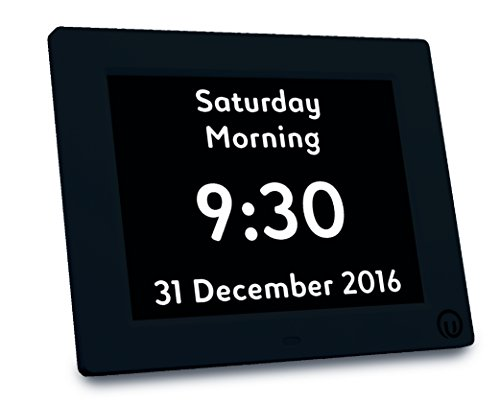 Unforgettable 2-in-1 Calendar & Day Clock with 7' Display - Brand New Digital Calendar Day and Date Clock for people living with Dementia, Memory Loss and Visual Impairment