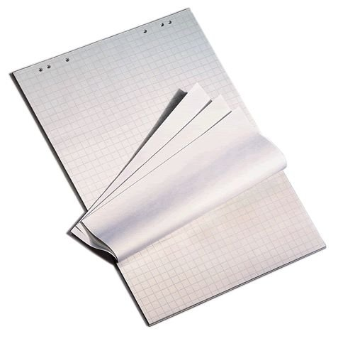 'Die dicken Flipchart blocchi di 80G/MQ A Quadretti e bianchi, 5X 20fogli di Carta senza pasta di legno Lavagna a fogli mobili Datamondial