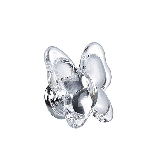 SHINY HANDLES 8 PCS Clear Crystal Cabinet Knobs,Crystal Furniture Knobs,Drawer Knobs, Kitchen Cabinets Knobs,Dresser Knobs,Cupboard Knobs,Wardrobe Knobs, Crystal Butterfly Shape