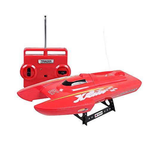 Barco teledirigido, 4 hélices dobles opcionales para empujar apagado el agua y el regalo de los niños teledirigido alejado...