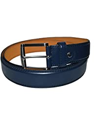 Casual Genuine Leather Jeans Belt - Navy Blue Color