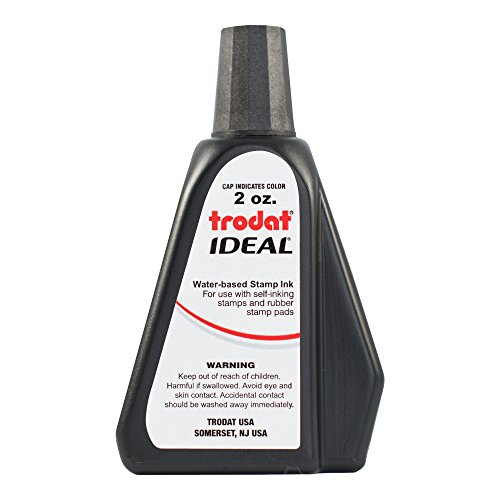 - Trodat AS-TRO52734 Ideal Premium Replacement Ink for Use with Most Self Inking and Rubber Stamp Pads, 2 oz, Black
