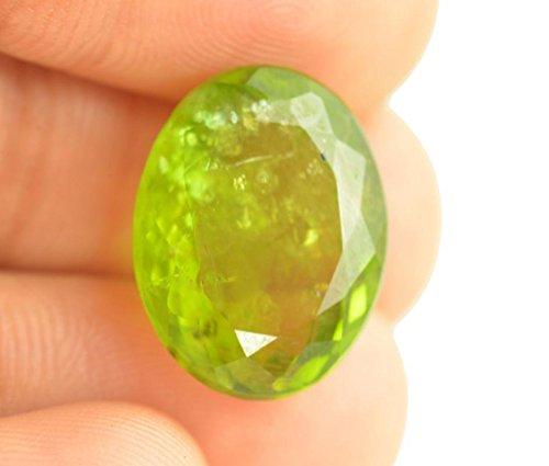Getgemstones Peridot Stone Original Real Certified Ova Cut Green Gemstone 12.1 Carat By ()