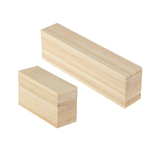(Fityle 20 Pieces Plain Blank Rectangle Wood Shapes Wood Sign Plank Board Plaque Wood Embellishment for Crafting, Labeling, and Creating, Modelling Materials, 10cm 20cm )