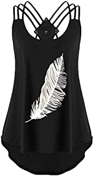 Geurzc Funny Graphic Sleeveless Tees Shirts for Women