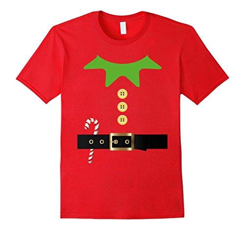 Mens Santa Elf Costume Holiday Christmas T-Shirt Xmas Kids Adult Large (Xmas Costumes)