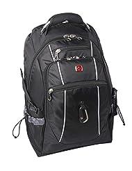 Swiss Gear 17.3-Inch Side Load Backpack, Black, International Carry-on