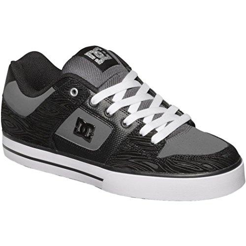 DC Men's Pure XE Skate Shoe,Grey/Black/Grey,8.5 M US