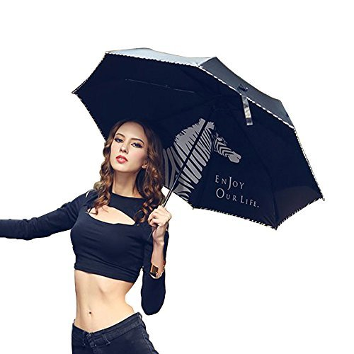 VILLASON-UPF-50Anti-UV-Windproof-Waterproof-Compact-Travel-Umbrella-Triple-Folding-Sturdy-Canopy-Construction-5-Layers-Nano-coating-for-UV-Protection-Waterproof-Ultra-slim-and-light