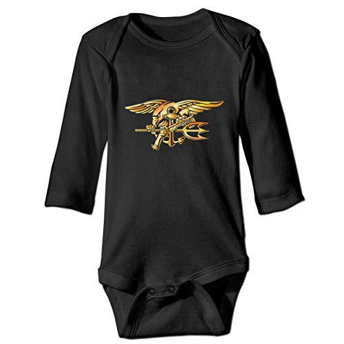 Gold United States Navy Seal Long Sleeve Onesies Outfits