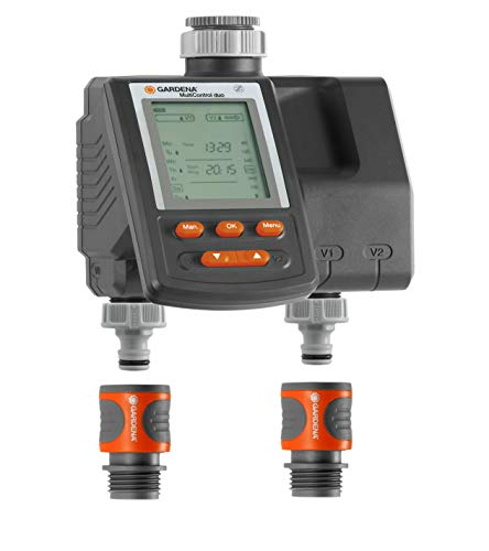 GARDENA WATER TIMER - DIGITAL - DUO PLUS - 3 CYCLE DUAL OUTLET