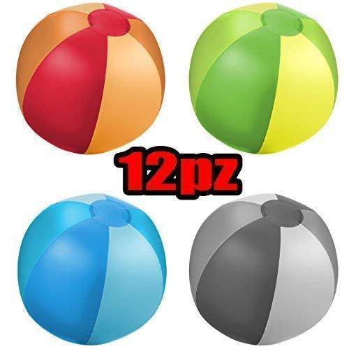 12 Pezzi Balón Pallone de Mar Playa Trias Hinchable: Amazon.es: Hogar